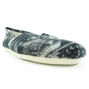 Toms Women Shoes Slip On Flats Black Printed R7S8
